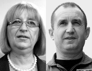 За власть в Болгарии схватились мужчина и женщина – спикер парламента Цецка Цачева и генерал Румен Радев