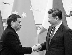 Дутерте хочет союза с Китаем, но на уступки в территориальном споре стороны не готовы
