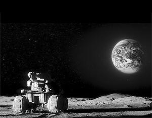 Российские космические станции не были на Луне с 1976 года. На фото: американский астронавт разглядывает Землю с поверхности спутника Земли в рамках одной из миссий «Аполлон»