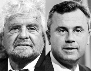 Беппе Грилло (слева) и Норберт Хофер могут устроить Евросоюзу новое политическое землетрясение, покруче Брексита и победы Трампа