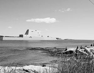 Эсминец ВМС США Zumwalt покинул Панаму после ремонта силовой установки