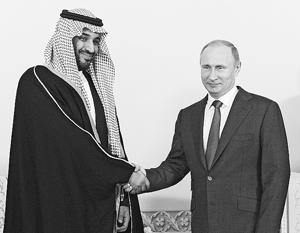 Принципиальными оказались переговоры Путина с саудовским принцем Мухаммадом ибн Салманом