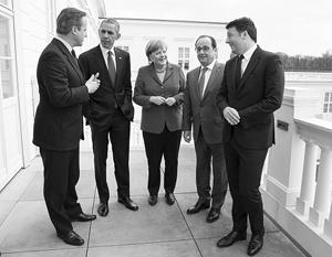 25 апреля 2016 года в Ганновере встретились Дэвид Кэмерон, Барак Обама, Ангела Меркель, Франсуа Олланд и Маттео Ренци. Всего через год четверо из пятерых лидеров уже не будут у власти