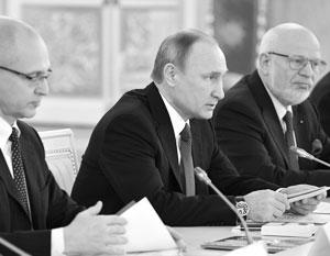 Владимир Путин на заседании СПЧ с Сергеем Кириенко и Михаилом Федотовым