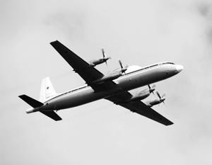 Самолет Ил-18 выполнял плановый перелет с аэродрома Канск