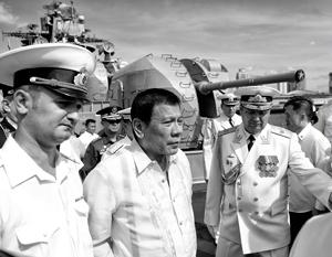 Родриго Дутерте оценил корабли российского Тихоокеанского флота