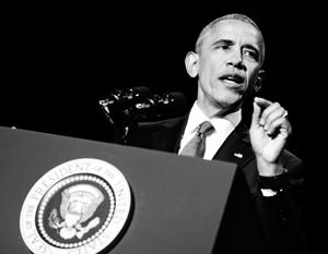Часовая речь в Чикаго прерывалась аплодисментами десятки раз