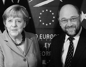 Складывается впечатление, что Шульц идет на выборы, чтобы во всем соглашаться с Меркель