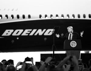 СМИ возмутились шуткой Трампа на презентации нового Boeing