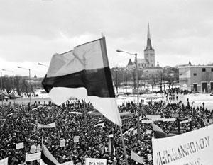 Массовая демонстрация за выход Эстонии из СССР
