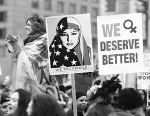 В глазах феминисток фигура Трампа олицетворяет все худшее – «патриархат» и «мизогинию»