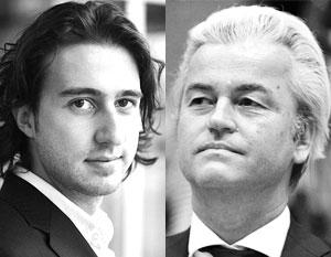 Лидер «Зеленых левых» Йоссе Клавер и лидер Партии свободы Герт Вилдерс