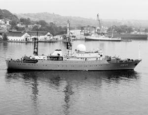 Российский корабль-разведчик вернулся к берегам США
