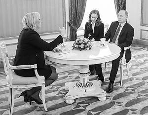 Владимир Путин встретился с Марин Ле Пен в Кремле