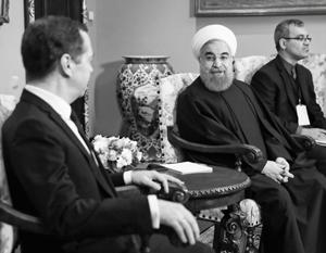 Еще до переговоров с Путиным Роухани встретился с премьером Медведевым