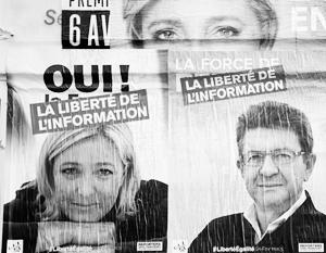 Марин Ле Пен и Жан-Люк Меланшон