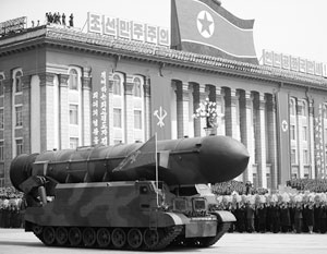 КНДР на параде в Пхеньяне впервые показала баллистические ракеты для подлодок