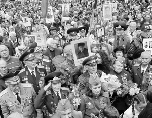 В праздновании Дня Победы на Украине приняло участие около 50 тысяч человек