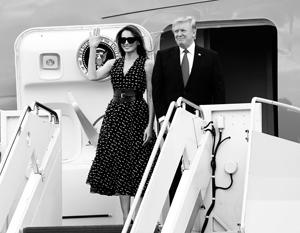 Дональд Трамп едет в свою первую зарубежную поездку