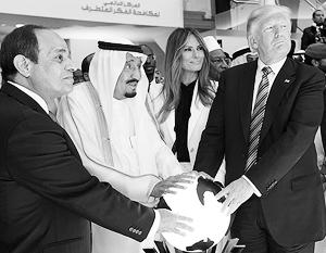 Трамп с саудовским королем Салманом и египетским президентом Сиси