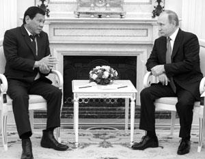 Началась встреча Путина и Дутерте