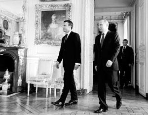 Путин и Макрон начали первую встречу в Версале