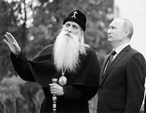 Митрополит Корнилий принимает Владимира Путина в Рогожской слободе