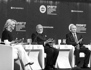 Владимир Путин, Нарендра Моди и Мегин Келли