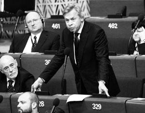 Российская делегация в ПАСЕ в апреле 2014 года была лишена права голоса