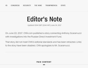 CNN удалил статью о «связях» команды Трампа с РФПИ