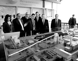 Владимир Путин посетил Лебединский ГОК