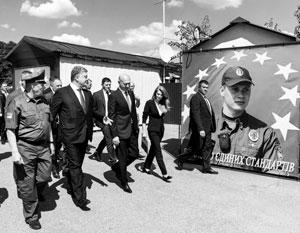 Открывая совместный КПП «Кучурган», президент Порошенко сулил премьеру Филипу помощь в восстановлении контроля над непокорным Приднестровьем