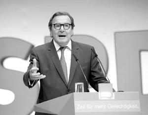 Герхард Шредер хочет, чтобы его партия вернулась к власти