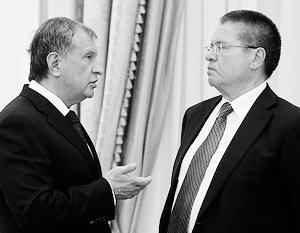 Одна из бесед Игоря Сечина и Алексея Улюкаева