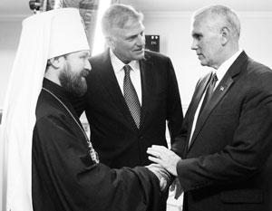 Митрополит Иларион, Фрэнклин Грэм и вице-президент США Майк Пенс
