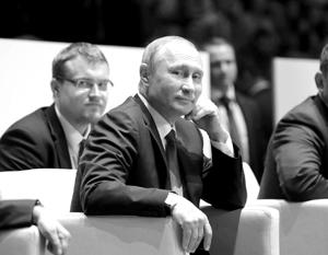 Владимир Путин на соревнованиях по дзюдо