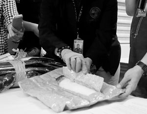 389 кг кокаина были расфасованы в 16 пакетов с дипломатической почтой
