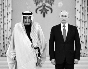 Король Салман стал первым саудовским правителем, принятым в Кремле