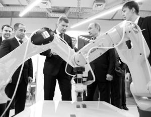 Владимир Путин с новым губернатором Пермского края Максимом Решетниковым