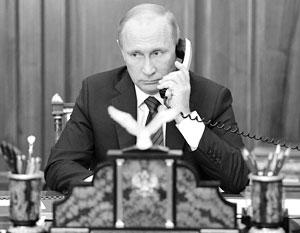 Владимир Путин провел первый телефонный разговор с лидерами ДНР и ЛНР