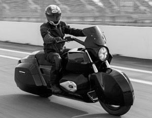 Тяжелый мотоцикл «Иж» прошел тест на сочинской трассе «Формулы-1»