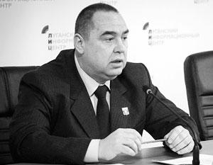 Плотницкий денонсировал заявление уволенного главы МВД ЛНР о «диверсантах»