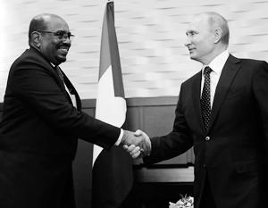 Глава Судана пожаловался Путину на вмешательство США в дела страны