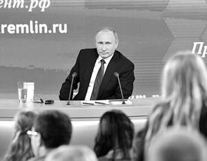 Кремль рассказал о подготовке Путина к пресс-конференции «с утра до ночи»