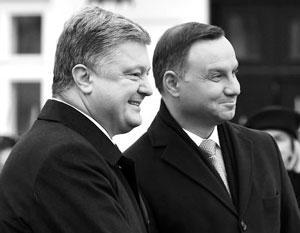 Дуда заявил о договоренности с Порошенко об отказе от чествования спорных личностей