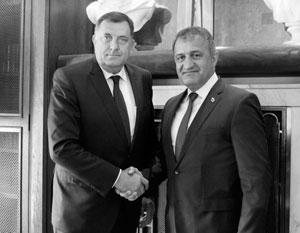 Милорад Додик и Анатолий Бибилов на исторической встрече