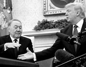 Назарбаев, общавшийся со всеми президентами США после распада СССР, пока присматривается к новому американскому лидеру, отмечают эксперты