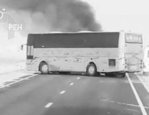 При возгорании автобуса в Казахстане погибли 52 человека