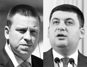 Премьер Эстонии Юри Ратас (слева) устроит своему украинскому коллеге Владимиру Гройсману небольшой ликбез