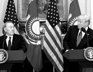 Трамп и Назарбаев обсудили перенос переговоров по Донбассу из Минска
